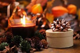 Fall gifts and pine cones
