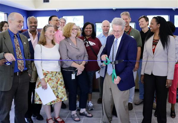 Mangum Street ribbon cutting