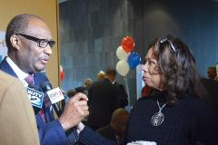 Dr. Jerry Young, NBC President speaks with WLBT-TV Correspondent, Roslyn Anderson